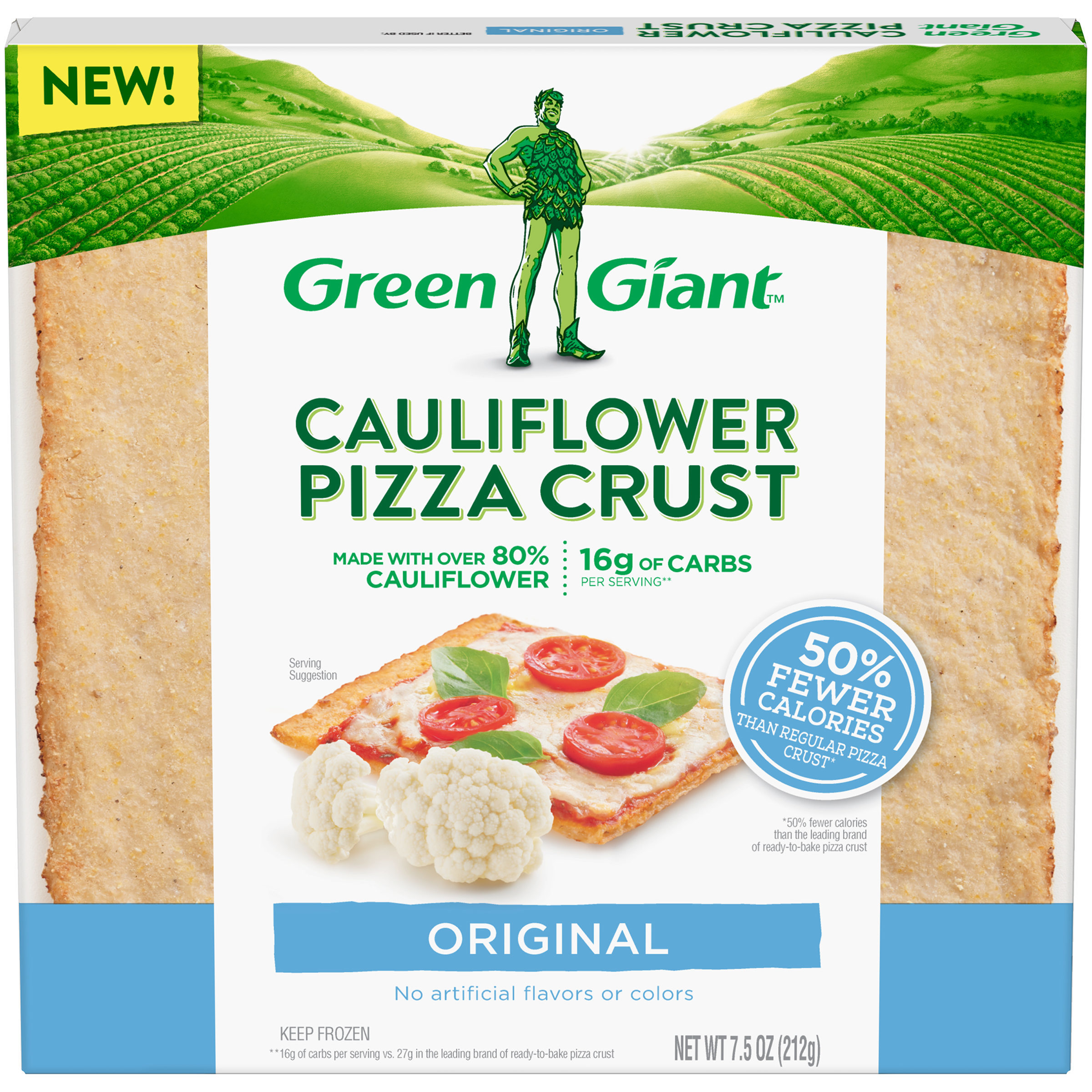 Print a coupon for $1 off one box of Green Giant Cauliflower Pizza Crust 5